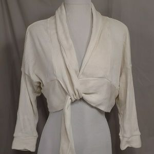 Anthropologie Crop Cardigan Sweater Sat Sunday Cot
